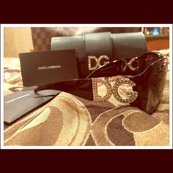 f0396190c122 Dolce   Gabbana Accessories - EUC Dolce   Gabbana Logo rhinestone sunglasses